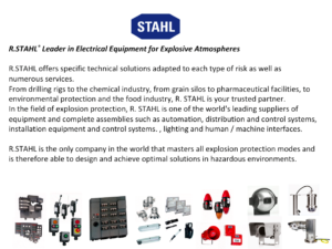 R.STAHL® Leader in Electrical Equipment for Explosive Atmospheres